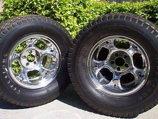 Original Et III 3 16x10 Wheels and Firestone Dirt Track Tires