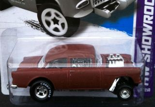Hot Wheels 2013 Super Custom 55 Chevy Bel Air Gasser w Real Riders 4