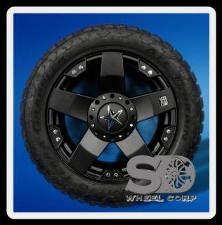 20X10 WHEELS RIMS XD ROCKSTAR BLACK 8X6.5 W/ LT285/55/20 NITTO TERRA