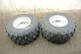 2005 05 Polaris Predator 500 Rear Wheel Set Rims Tires Wheels