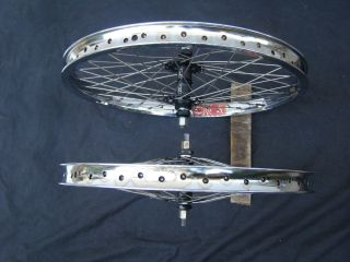 GT MOHAWK SEALED 48 ARAYA SUPER 7X WHEELS bmx rims chrome freestyle