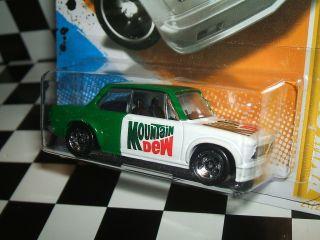 Hot Wheels 1968 BMW 2002 Mountain Dew Custom