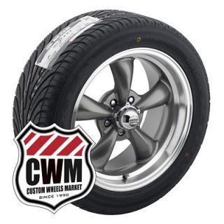 17x8 Gray Wheels Rims 5x4 50 Nexen Tires 245 45ZR17 for Ford rwd