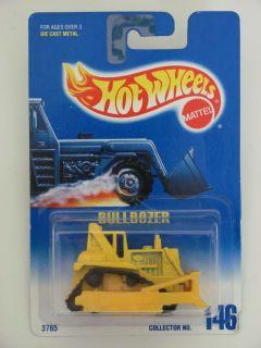 Hot Wheels 1991 Blue Card Bulldozer 146 Yellow