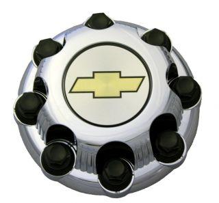 Wheel Center Hub Cap Cover 8 Lug Nuts Chrome Alloy Aluminum Rim
