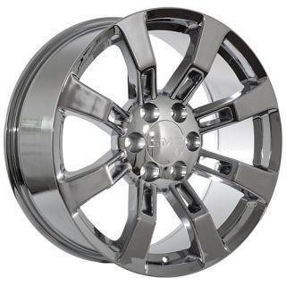 22 inch GMC Truck Sierra Yukon Denali Chrome Rims Wheels