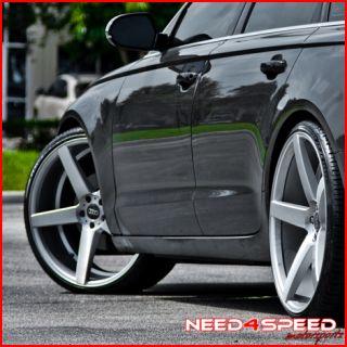 E500 E550 E55 XO Miami Silver Concave Staggered Wheels Rims