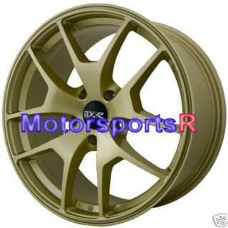 19 XXR 518 Gold Wheels Rims 07 WRX STI Acura TL Altima