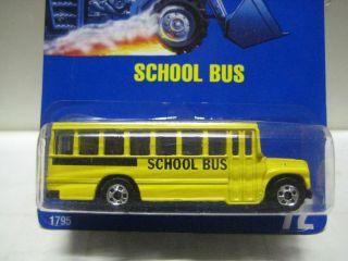 Hot Wheels RARE Blue Card MOC 72 School Bus Mint on Card