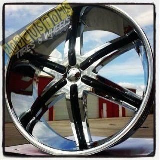 24 inch Wheels Chrome Rims DW9 6x139 7 GMC Yukon 2001 2002 2003 2004