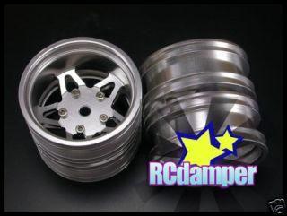 Aluminum Rear Star Wheel Rim 2pcs Tamiya Tractor Truck