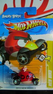 HOT WHEELS 2012 ANGRY BIRDS RED BIRD NEW MODELS NEW RARE VHTF US CARD