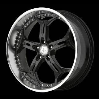 HE834 5x115 18x8 Impala Charger Black Wheels Rims Free Lugs