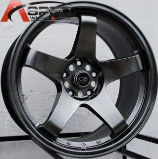 18x9 5 Rota P45R Wheel Rims 5x114 3 20mm Hyper Black