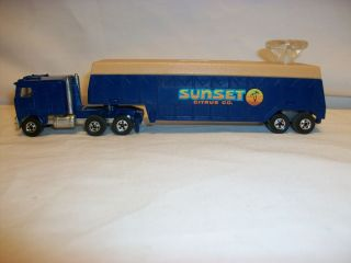 Vintage Hot Wheels Semi Truck Trailer Steering Rigs