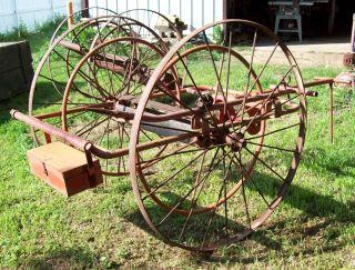 cart farm wagon original horse drawn wheels spoked 1908 buggy carriage