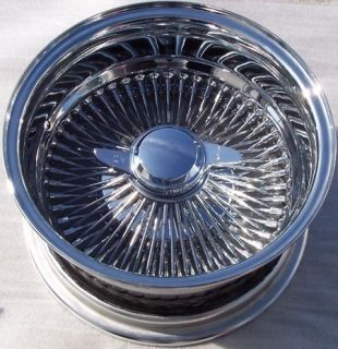 13 100 Spoke All Chrome Wire Wheels 13x7 Deep Dish