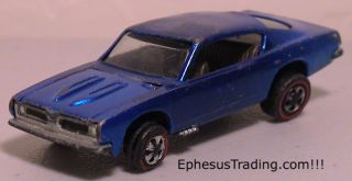 1967 Hot Wheels Red Line Custom Barracuda V8 Aqua 1 64