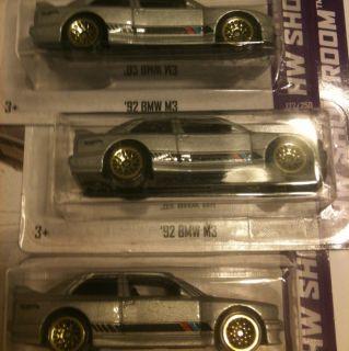 Hot Wheels 92 BMW M3 3 Cars Lot