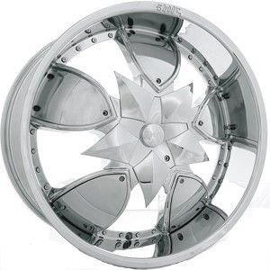 22 Shooz 004 Chrome Wheels Rims Tires Package 5x114 3 5x120 65