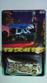 Hot Wheels Lax Convention 2011 VW Drag Bus Chase White New Al Gonzalez