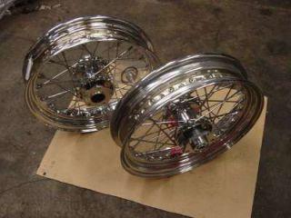 Chrome Spoke Wheels 4 Harley FLST Fatboy