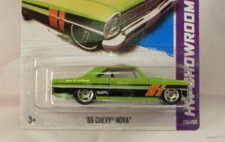 2013 Hot Wheels #231 66 CHEVY NOVA CUSTOM Made Super Secret Treasure