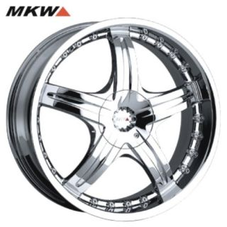 19 Chrome MKW Wheels Rims 5x4 5 Lug Honda Acura Nissan Lexus Toyota