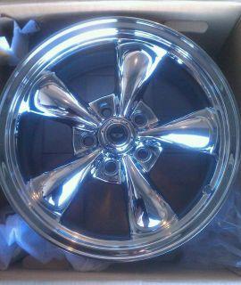 New 17x9 American Racing AR605 Torq Thrust Wheels Chrome 5x120 65 4 75