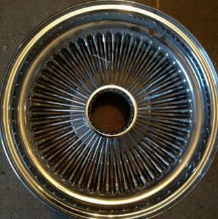 15 x6 Chrome Wire Wheels Rims Set of 4 New OG Wire