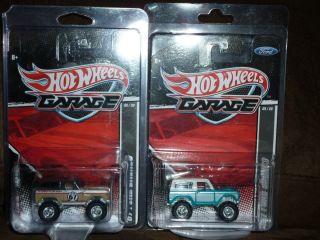 Hot Wheels 67 Ford Broncos Brown Black 2011 Garage RARE J Case Light