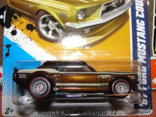 2012 Hot Wheels Super Treasure Hunt 67 Ford Mustang Coupe L2593 D40