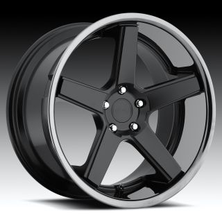 22 inch Niche Nurburg Black Wheels Rims Staggered 5x120 BMW E63 E65 6