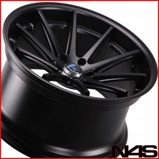 S600 S63 S65 Rohana RC10 Concave Black Staggered Wheels Rims