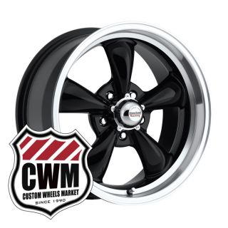 Black Wheels Rims 5x4 75 Lug Pattern for Pontiac GTO 64 73
