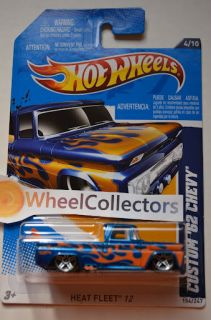 Custom 62 Chevy Truck * BLUE * 2012 Hot Wheels * Q Case * Heat Fleet
