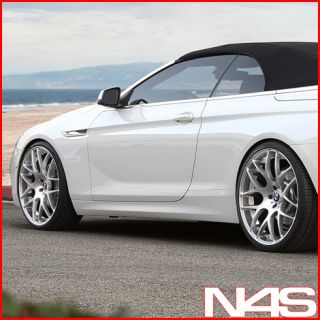 E63 E64 645 650 AVANT GARDE M310 CONCAVE SILVER STAGGERED WHEELS RIMS