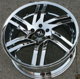 Koko KOUTURE Spline 20 Chrome Rims Wheels Jaguar x Type x Type 20 x 8