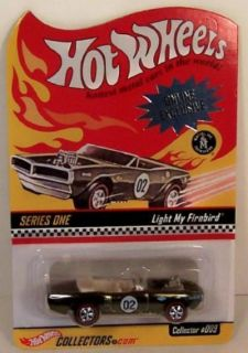 Hot Wheels Collectors com Light My Firebird 1 64