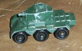 LESNEY MATCHBOX 67 ARMY SALADIN ARMOURED CAR 6x6 BLACK WHEELS TANK