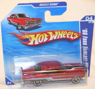 Hot Wheels 66 Ford Fairlane GT Red w Black Stripes