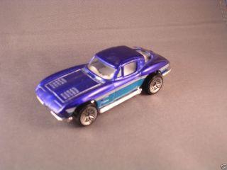 Corvette Split Window Hot Wheels Loose 1/64 Drk / Lt Blue Lace Wheels