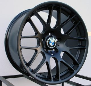 19 M3 CSL Wheels Rims Matte Black Fit BMW E90 3 Series 325 328 330 335