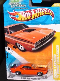 Hot Wheels Orange Green Lantern 71 Dodge Challenger 12 50 New