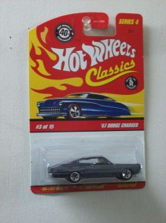 Hot Wheels Classics Series 4 67 Dodge Charger Gunmetal Black