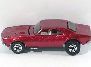 Hotwheels Vintage blackwall 1967 67 Camaro Metallic Red 5 Pack Olny