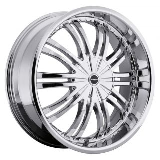 22 inch Strada Venti Chrome Wheels Rims 5x4 5 Caravan Nitro Intrepid