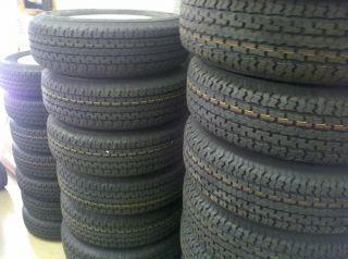 Tires 15 ST205 75 D15 F78 15 Bias Ply White Spoke Rims Wheels 15 6x5 5