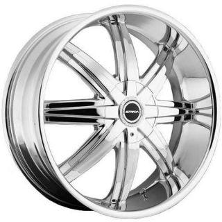 22x8.5 Chrome Strada Magia Wheels 5x4.75 5x5 +18 JEEP WRANGLER RUBICON