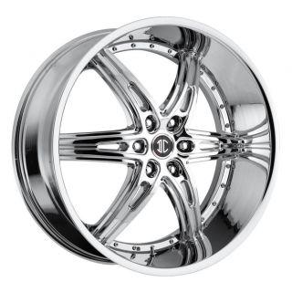 24 inch 2CRAVE NO16 Chrome Wheels Rims 6x5 5 K 2500 Silverado Suburban